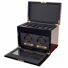 Wolf Savoy Double Watch Winder with Storage � Burl --