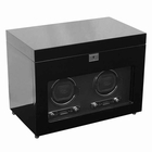 Wolf Savoy Double Watch Winder with Storage � Black --