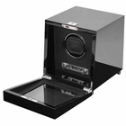 Wolf Savoy Single Watch Winder with Cover � Black --