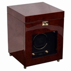 Wolf Savoy Single Watch Winder with Storage � Burl --