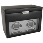 Wolf Viceroy Double Watch Winder with Storage and Travel Case