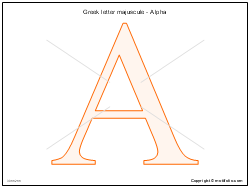 Greek letter majuscule - Alpha