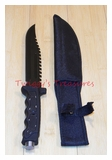Rambo Knife with Saw Teeth KC009BK-PS