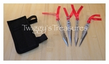Set of 4 Ninja Kunai Knives w/arm nylon sheath-RC-117-4S