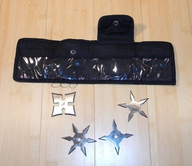 Set of 4 Mini Stars w/Pouch-JL-4S-MC