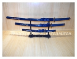 "Samurai Sword Set <br>""Battle of Sekigahara"" <br>3 piece SA035BL"