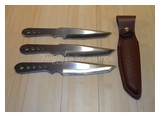 Gil Hibben Large Triple Tanto Thrower Set-GH 5003