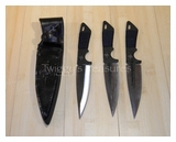 "Kit Rae 8 1/2""  Black Jet Throwing Knives Set of 3<br> KR0033B"