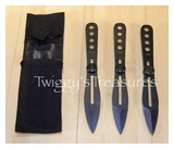 Set of 3 Black Throwing Knives<br> A7303BK