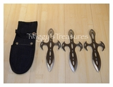 Set of 3 Silver Throwing Knives<br>A5303