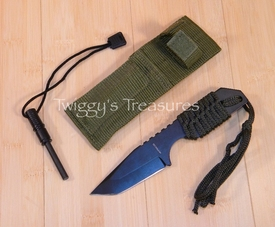Tactical Blade w/Magnesium fire starter-KC-7567-PS