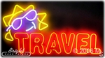 Travel Double Stroke Neon Sign
