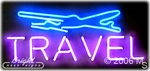 Travel Logo Neon Sign