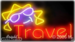 Travel Neon Sign