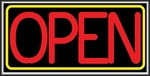 Open Red/Yellow Lightbox Sign