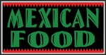 Mexican Food Lightbox Sign