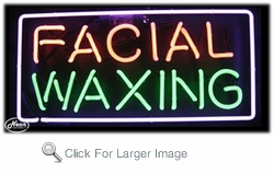 Facial Waxing Neon Sign