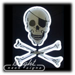 Pirate Skull Neon Sculpture