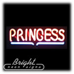 Princess Neon Sculpture