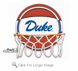 Duke Neon Basketball Sign
