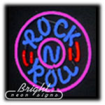 Rock N Roll Neon Sculpture