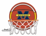 Michigan Wolverines Neon Basketball Sign