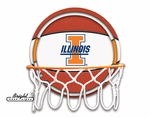 Illinois Fighting Illini Neon Basketball Sign