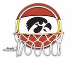 Iowa Hawkeyes Neon Basketball Sign