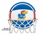 Kansas Jayhawks Neon Basketball Sign