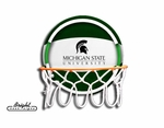 Michigan State Spartans Neon Basketball Sign