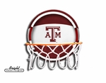 Texas A&M Aggies Neon Basketball Sign