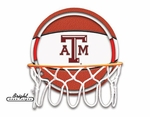 Texas A&M Neon Basketball Sign