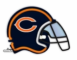 Chicago Bears Neon Helmet