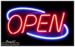 Large Deco Style Neon Open Sign