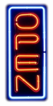 Vertical Open Neon Sign