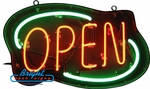 Outdoor Deco Style Neon Open Sign