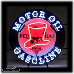 Red Hat Motor Oil Neon Sign