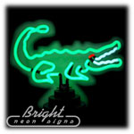 Alligator Neon Sculpture