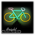 Bike Neon Sculpture