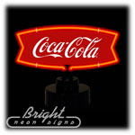 Coke Banner Neon Sculpture