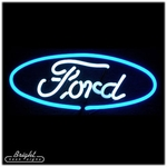 Ford Logo Neon Sculpture