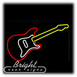 Guitar 2 Neon Sculpture