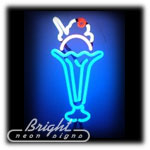 Ice Cream Neon Sculpture