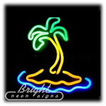 Island Palm Neon Sculpture