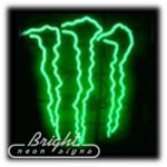 Monster Energy Neon Sculpture