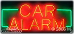 Car Alarm Neon Sign