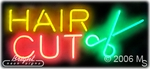 Hair Cut Logo Neon Sign