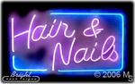 Hair Nails Beauty Neon Sign