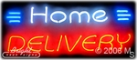 Home Delivery Neon Sign