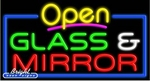 Glass & Mirror Open Neon Sign